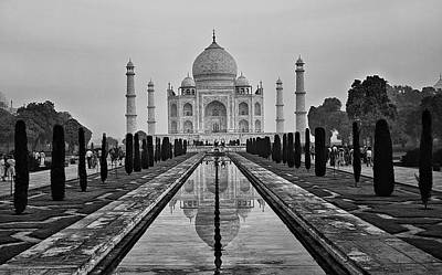 Photograph - Taj Mahal In Black And White by Jacqi Elmslie
