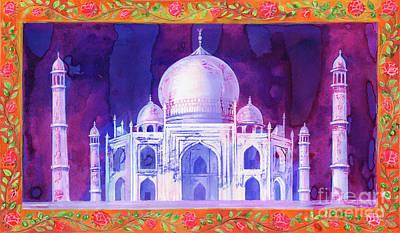 Rose Vine Painting - Taj Mahal by Jane Tattersfield