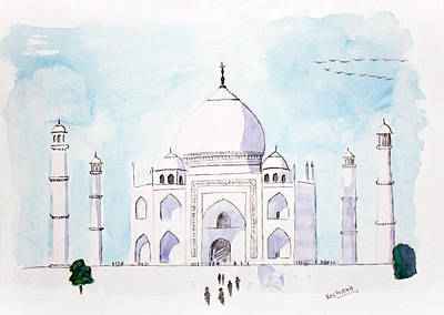 Taj Mahal Art Print by Keshava Shukla