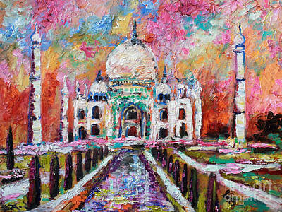 Painting - Taj Mahal Mausoleum India by Ginette Callaway