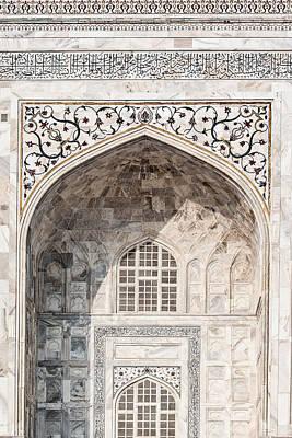 Photograph - Taj Mahal Of India Detail by Nila Newsom
