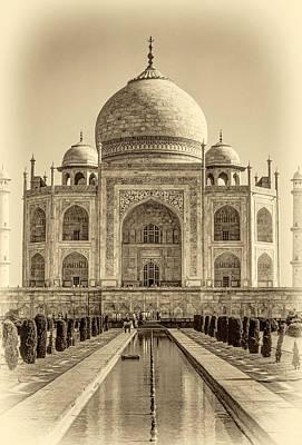 Taj Mahal Sepia Art Print