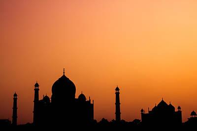 Photograph - Taj Mahal Silhouette by Nila Newsom