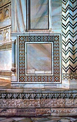 Marble Inlay Tomb-stones Photograph - Taj Mahal Stone Work by Steve Harrington