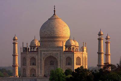 White Marble Photograph - Taj Mahal Sunset by Aidan Moran