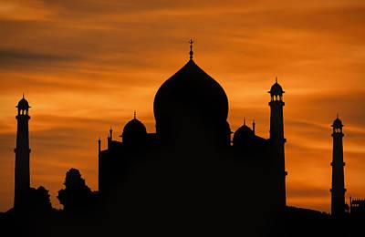Wall Art - Photograph - Taj Mahal Sunset Silhouette by Martin Belan