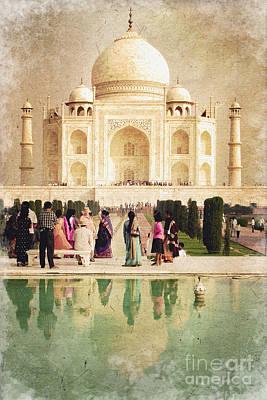 Tajmahal Photograph - Taj Mahal Vintage by Delphimages Photo Creations