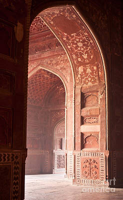 India Wall Art - Photograph - Taj Opening by Mike Reid
