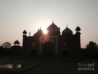 Photograph - Taj Set In Sun by LeLa Becker