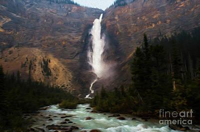 Photograph - Takakkaw Falls Canada 2 by Bob Christopher