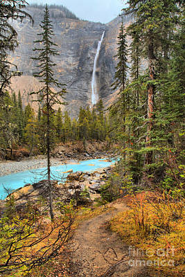 Photograph - Takakkaw Falls Fall Portrait by Adam Jewell