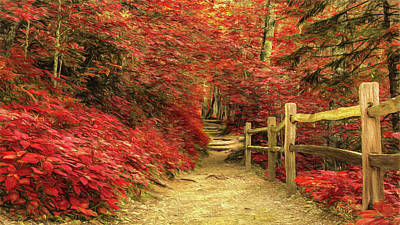 Photograph - Take A Hike - Red by Stephen Stookey