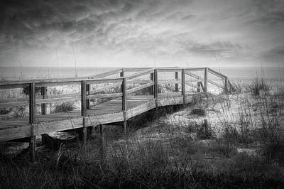 Photograph - Take A Long Walk In Black And White by Debra and Dave Vanderlaan