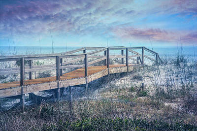 Photograph - Take A Long Walk Into The Blue by Debra and Dave Vanderlaan