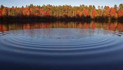 Water Ripple Photograph - Take A Pebble by Jerry LoFaro