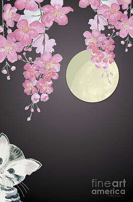 Painting - Take A Peek - Cat by Melly Terpening