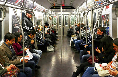 Painting - Take A Ride On The Nyc Subway - Doc Braham - All Rights Reserved by Doc Braham