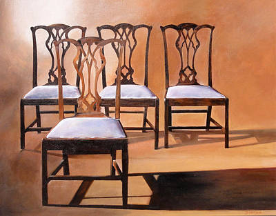 Painting - Take A Seat by Denise H Cooperman