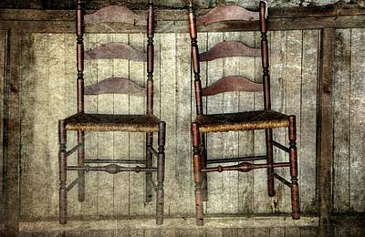Ladder Back Chairs Photograph - Take A Seat by Stephanie Calhoun
