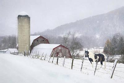 Barn Digital Art - Take A Snow Day by Lori Deiter
