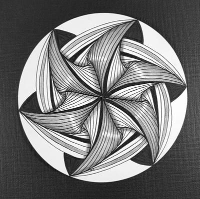 Zia Drawing - Take A Spin  by Rachel Hendry