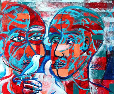 Take Care  My Love Art Print by Rollin Kocsis