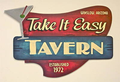Jackson Browne Painting - Take It Easy Tavern by Tom Colla