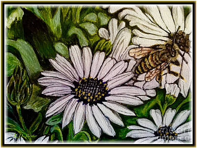 Painting - Take It From A Honeybee Take The Time To Enjoy Life by Kimberlee Baxter