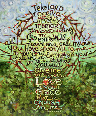 Thorns Wall Art - Painting - Take Lord, Receive by Jen Norton