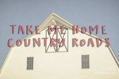 Take Me Home Country Roads Art Print by Edward Fielding