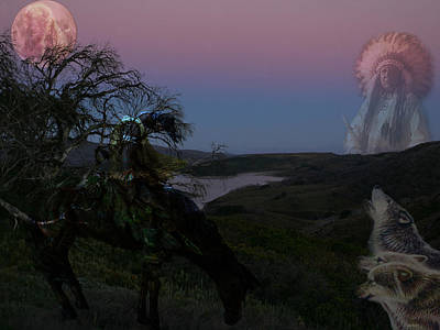Indian Chief Digital Art - Take Me Home by Evelyn Patrick