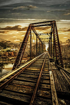 Photograph - Take Me Home On The Old Tracks by Debra and Dave Vanderlaan