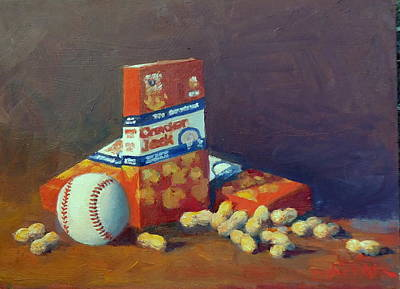 Cracker Jacks Painting - Take Me Out To The Ball Game by Dianne Panarelli Miller