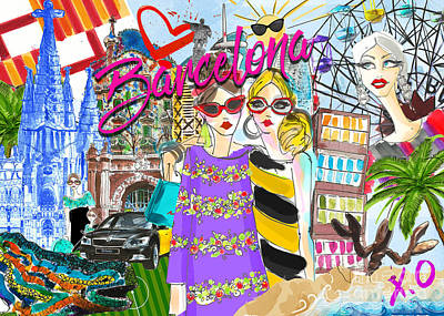 Digital Art - Take Me To Barcelona  by Jodi Pedri