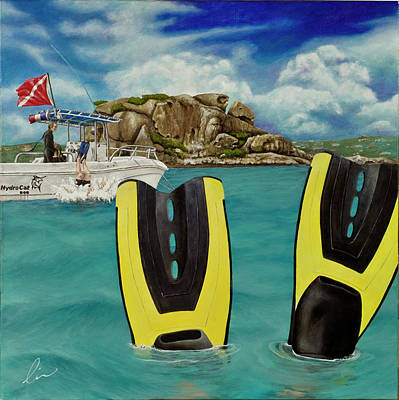 St. Maarten Painting - Take Me To Creole Rock by Cindy D Chinn
