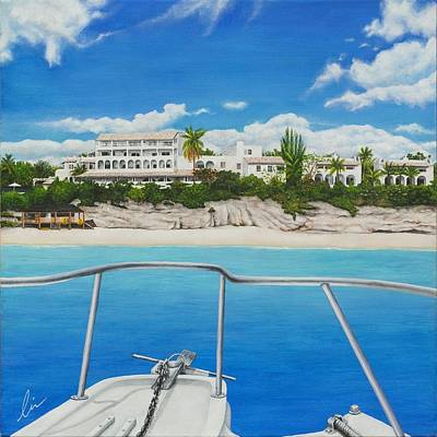 St. Maarten Painting - Take Me To La Samanna by Cindy D Chinn