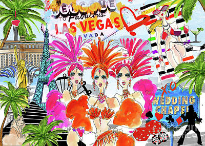 Digital Art - Take Me To Las Vegas by Jodi Pedri