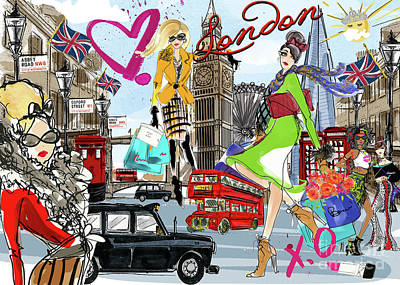 Digital Art - Take Me To London by Jodi Pedri