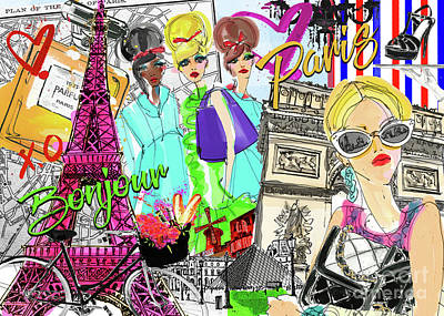Digital Art - Take Me To Paris by Jodi Pedri