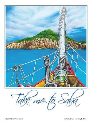 Saba Painting - Take Me To Saba by Cindy D Chinn
