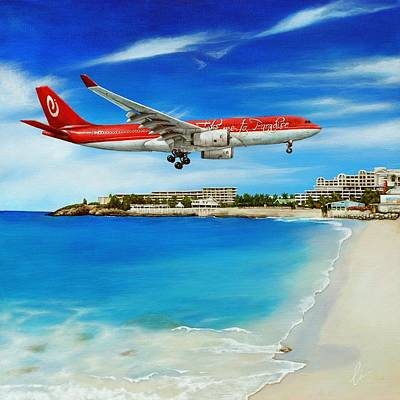St. Maarten Painting - Take Me To Sxm by Cindy D Chinn