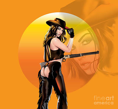 Digital Art - Take Me To The Wild Wild West by Brian Gibbs