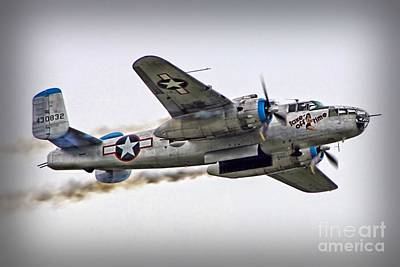 B25 Photograph - Take Off Time by DJ Florek