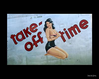 Take-off Time Art Print by Kathy Barney