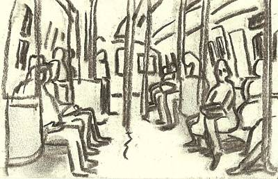 Painting - Take The A Train, Nyc by Thor Wickstrom