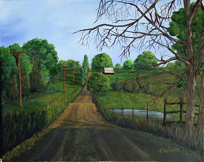 Painting - Take The Back Road by T Fry-Green