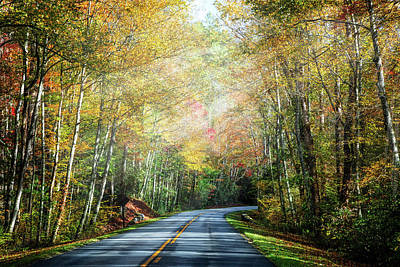 Photograph - Take The Long Way Home In Autumn by Debra and Dave Vanderlaan