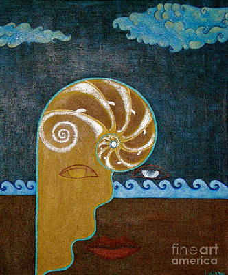 Yemaya Painting - Take The Pearl Leave The Shell  by Laila Espinoza