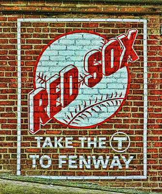 Photograph - Take The T Mural - Fenway Park by Allen Beatty