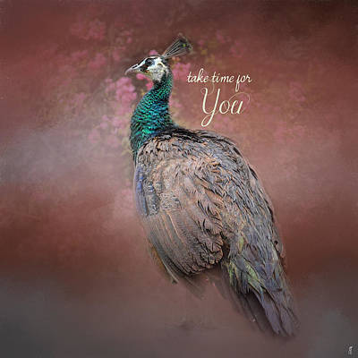 Photograph - Take Time For You - Peacock Art by Jai Johnson